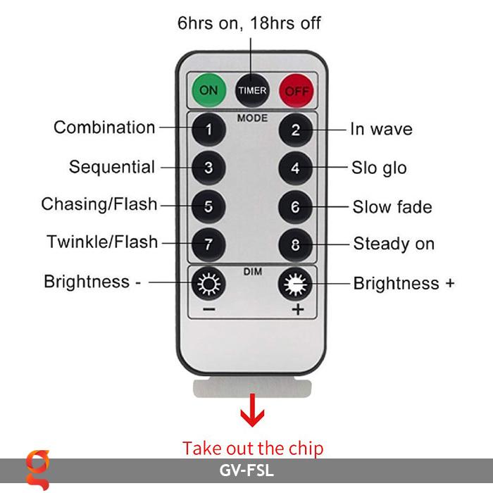 Dây đèn led trang trí hiệu ứng pháo hoa GV-FSL 6