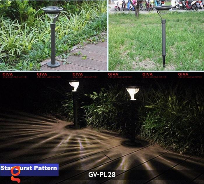 Đèn sân vườn năng lượng mặt trời GV-PL28 1