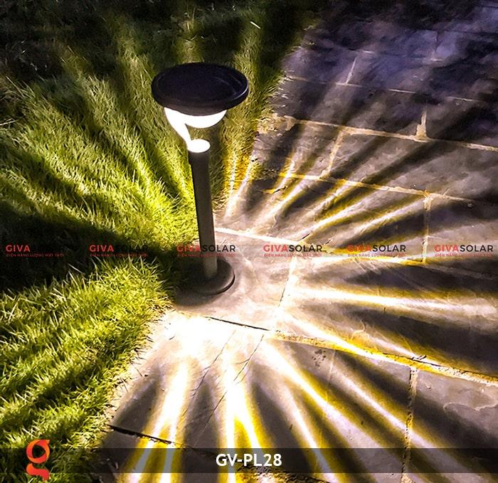 Đèn sân vườn năng lượng mặt trời GV-PL28 20
