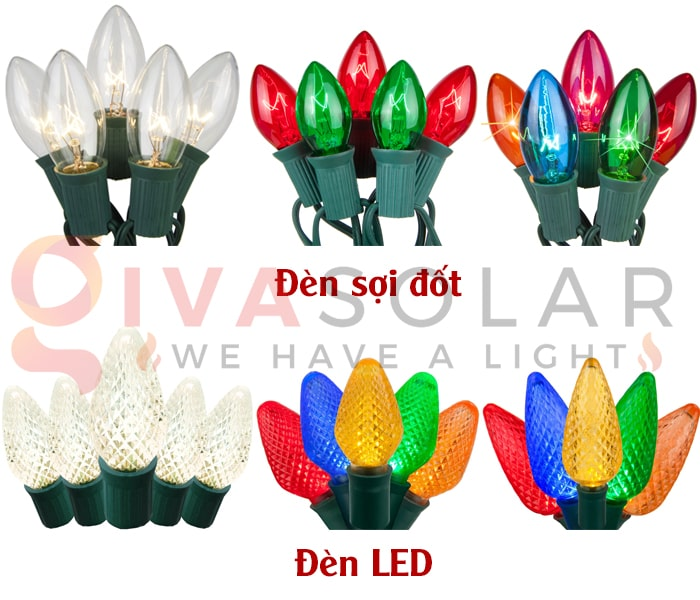 Đèn LED trang trí Noel và đèn truyền thống- Loại nào tốt? 3