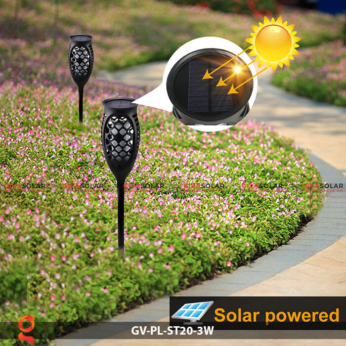Đèn ngọn lửa năng lượng mặt trời GV-PL-ST20-3W 10