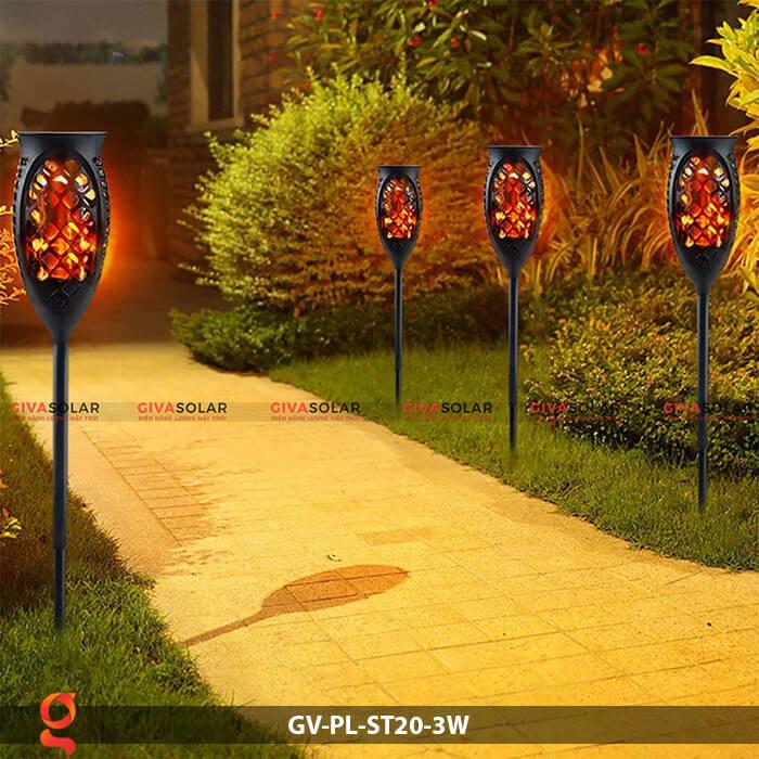 Đèn ngọn lửa năng lượng mặt trời GV-PL-ST20-3W 15