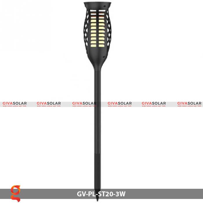 Đèn ngọn lửa năng lượng mặt trời GV-PL-ST20-3W 5