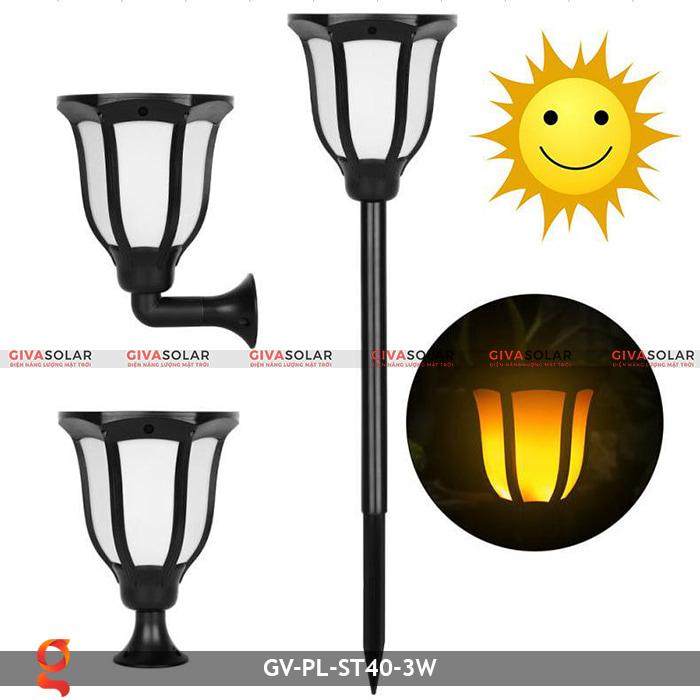 Đèn ngọn lửa năng lượng mặt trời 3 trong 1 GV-ST40-3W 1