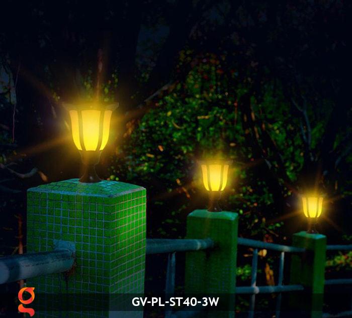 Đèn ngọn lửa năng lượng mặt trời 3 trong 1 GV-ST40-3W 14