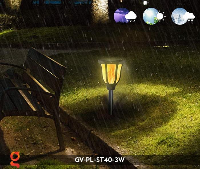 Đèn ngọn lửa năng lượng mặt trời GV-ST40
