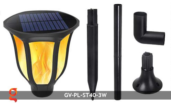 Đèn ngọn lửa năng lượng mặt trời 3 trong 1 GV-ST40-3W 4