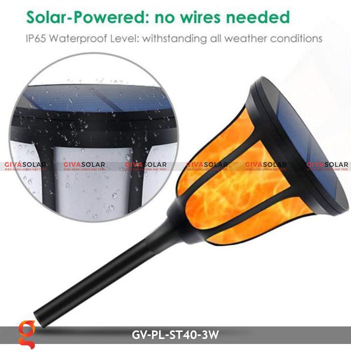 Đèn ngọn lửa năng lượng mặt trời 3 trong 1 GV-ST40-3W 6