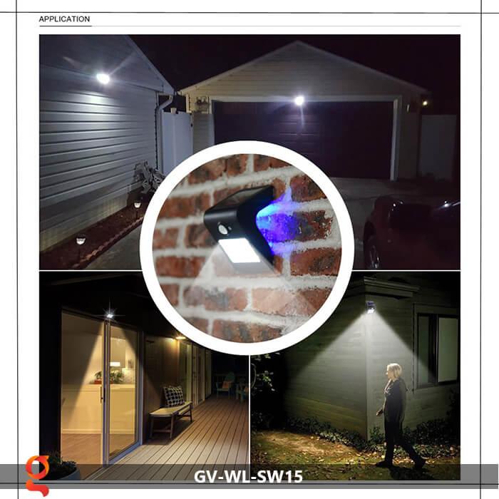 Đèn năng lượng mặt trời ốp tường GV-WL-SW15 12