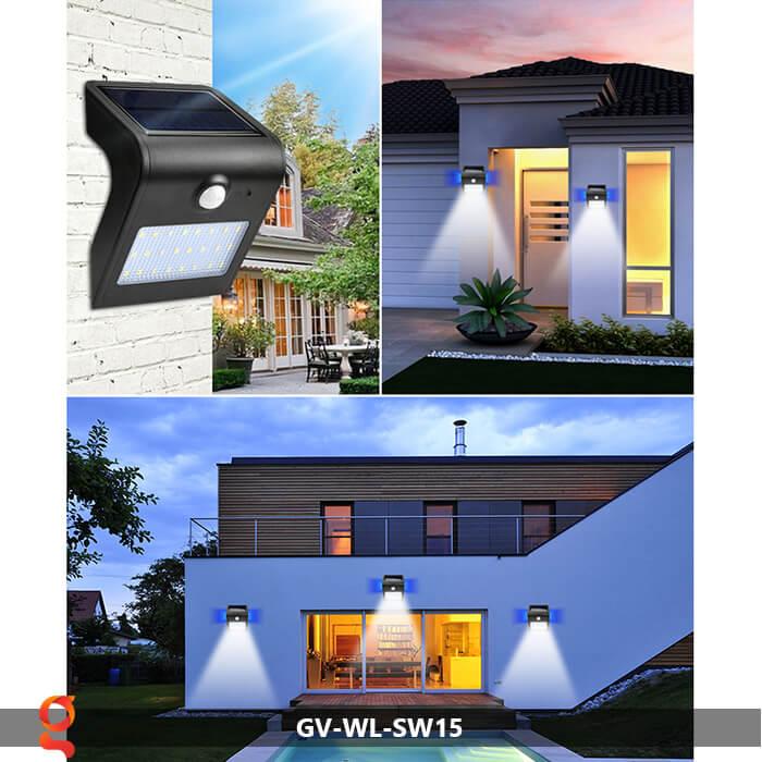 Đèn năng lượng mặt trời ốp tường GV-WL-SW15 13