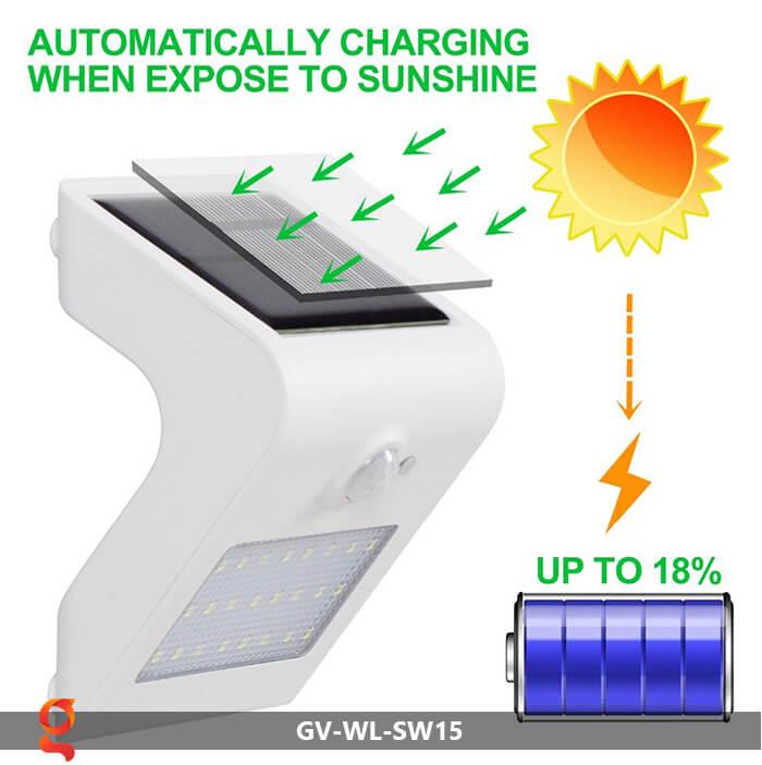 Đèn năng lượng mặt trời ốp tường GV-WL-SW15 3