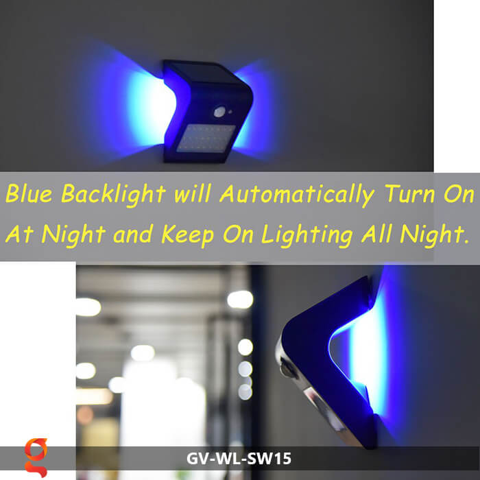 Đèn năng lượng mặt trời ốp tường GV-WL-SW15 8