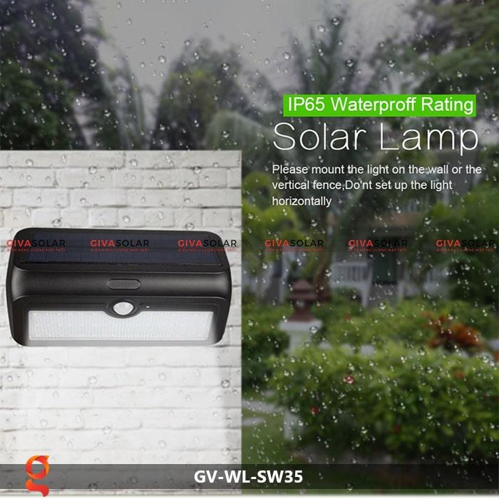 Đèn led năng lượng mặt trời ốp tường GV-WL-SW35 11