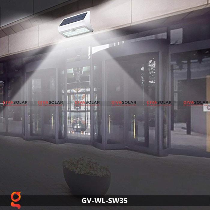 Đèn led năng lượng mặt trời ốp tường GV-WL-SW35 12