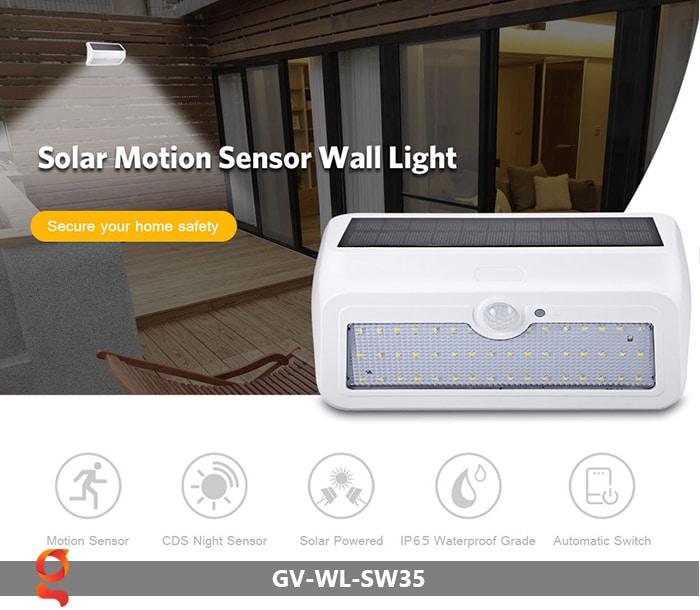 Đèn led năng lượng mặt trời ốp tường GV-WL-SW35 5