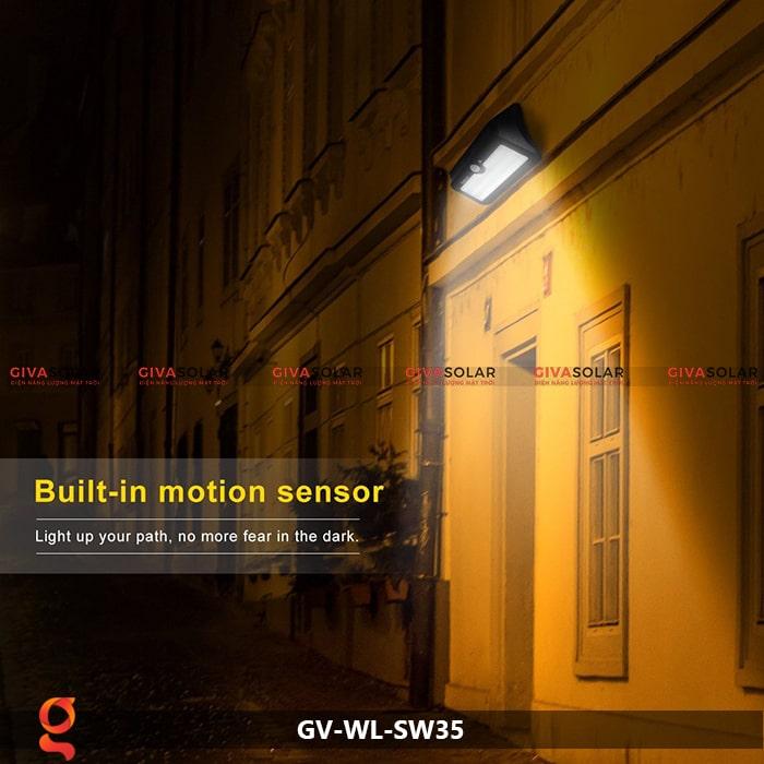 Đèn led năng lượng mặt trời ốp tường GV-WL-SW35 8