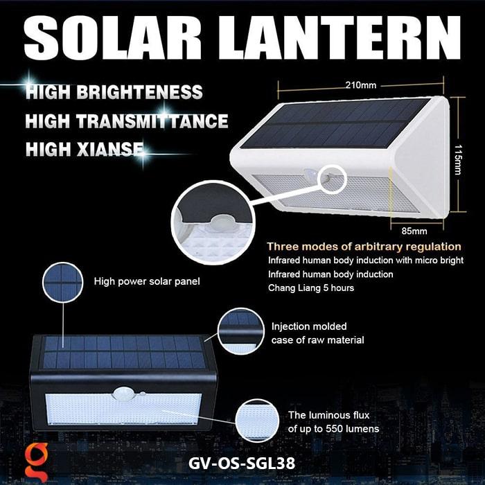 Đèn ốp tường năng lượng mặt trời GV-OS-SGL38 5