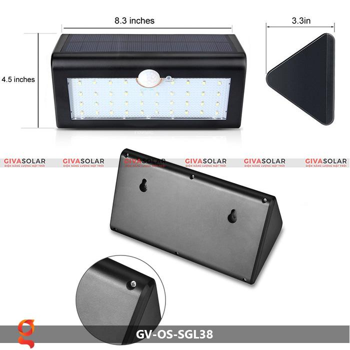 Đèn ốp tường năng lượng mặt trời GV-OS-SGL38 8