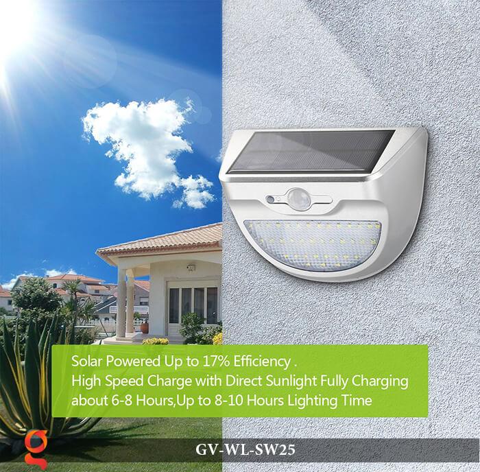 Đèn ốp tường năng lượng mặt trời có cảm ứng GV-WL-SW25 10