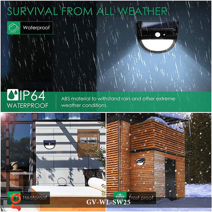 Đèn ốp tường năng lượng mặt trời có cảm ứng GV-WL-SW25 13