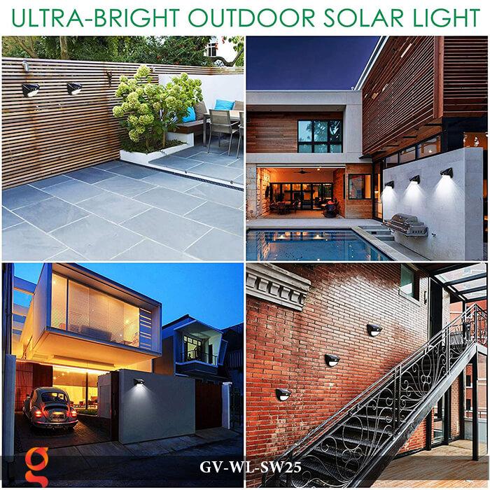 Đèn ốp tường năng lượng mặt trời có cảm ứng GV-WL-SW25 15