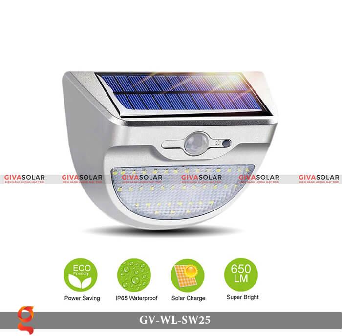 Đèn ốp tường năng lượng mặt trời có cảm ứng GV-WL-SW25 2