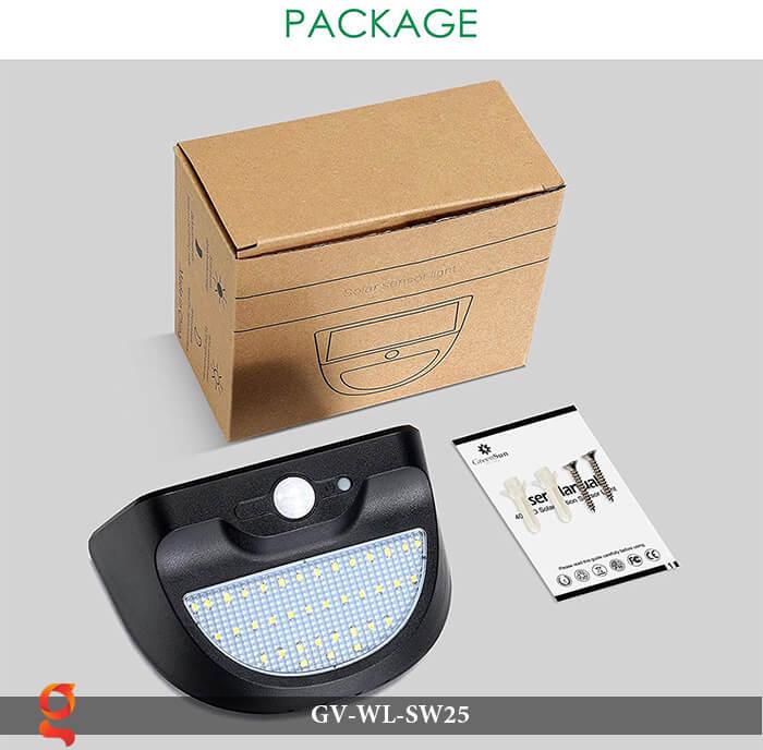 Đèn ốp tường năng lượng mặt trời có cảm ứng GV-WL-SW25 7