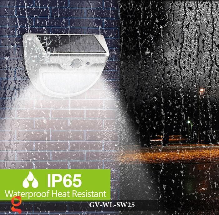 Đèn ốp tường năng lượng mặt trời có cảm ứng GV-WL-SW25 9