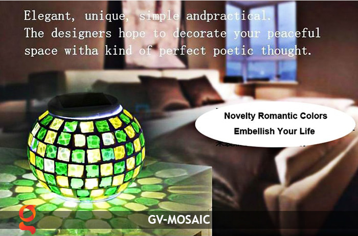 Đèn quả cầu chiếu sáng năng lượng mặt trời GV-MOSAIC 1