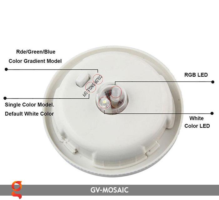Đèn quả cầu chiếu sáng năng lượng mặt trời GV-MOSAIC 9