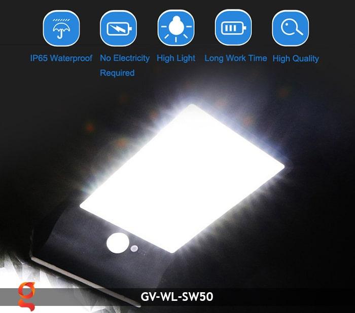 Đèn treo tường năng lượng mặt trời GV-WL-SW50 12