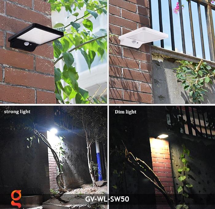 Đèn treo tường năng lượng mặt trời GV-WL-SW50 15