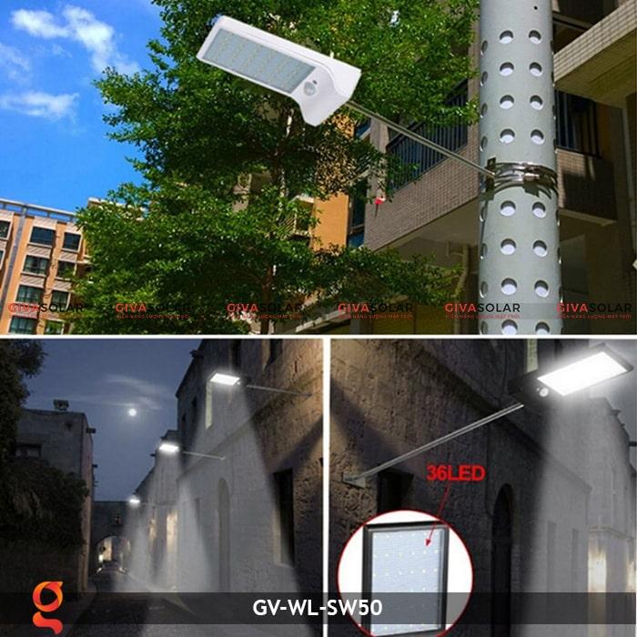 Đèn treo tường năng lượng mặt trời GV-WL-SW50 16