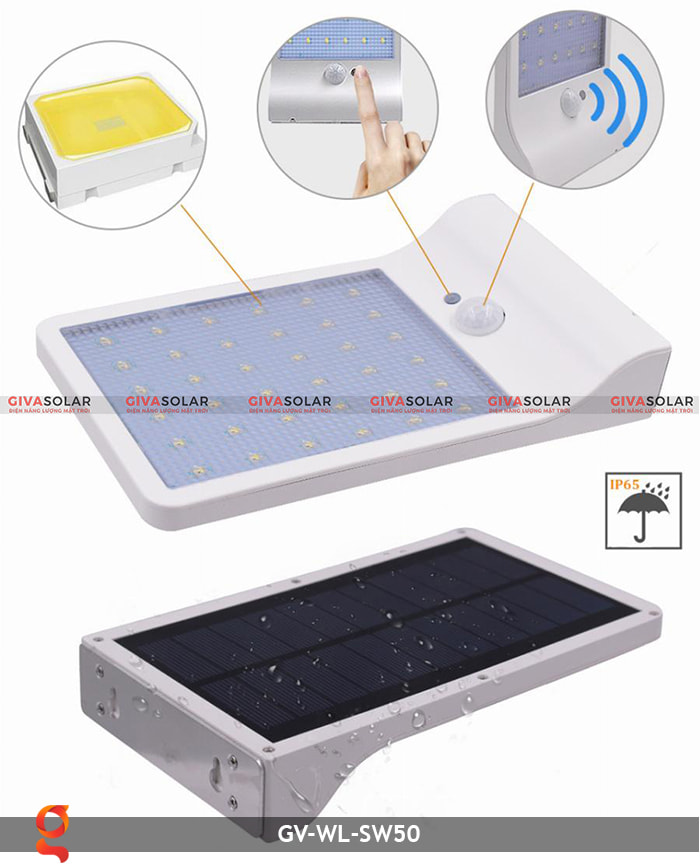 Đèn treo tường năng lượng mặt trời GV-WL-SW50 7