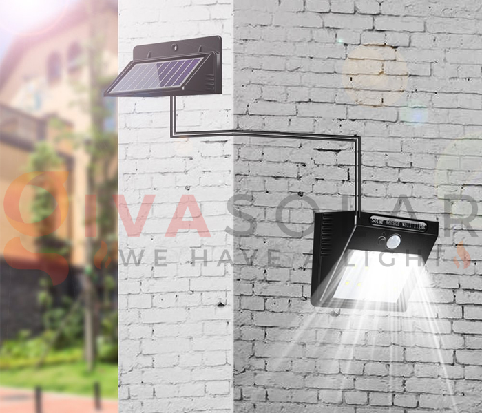 Hướng dẫn lắp đặt đèn treo tường năng lượng mặt trời 4