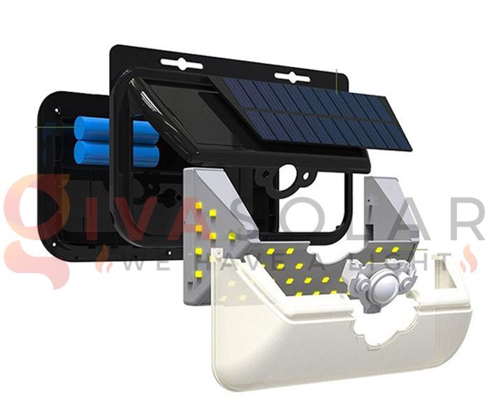 Hướng dẫn lắp đặt đèn treo tường năng lượng mặt trời 5