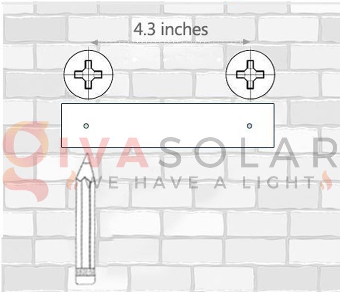 Hướng dẫn lắp đặt đèn treo tường năng lượng mặt trời 7