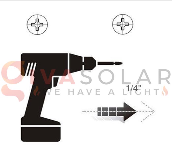 Hướng dẫn lắp đặt đèn treo tường năng lượng mặt trời 8