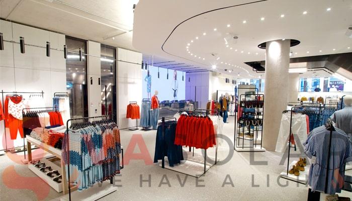 Hướng dẫn trang trí đèn cho shop thời trang