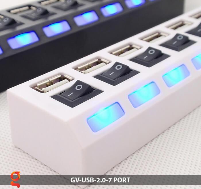 USB HUB 2.0 có 7 cổng kết nối 12