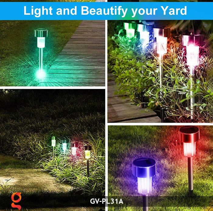 Đèn mạt trời cắm đất đổi màu GV-PL31A 9