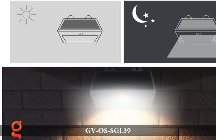 Đèn LED năng lượng mặt trời treo tường GV-OS-SGL39 10