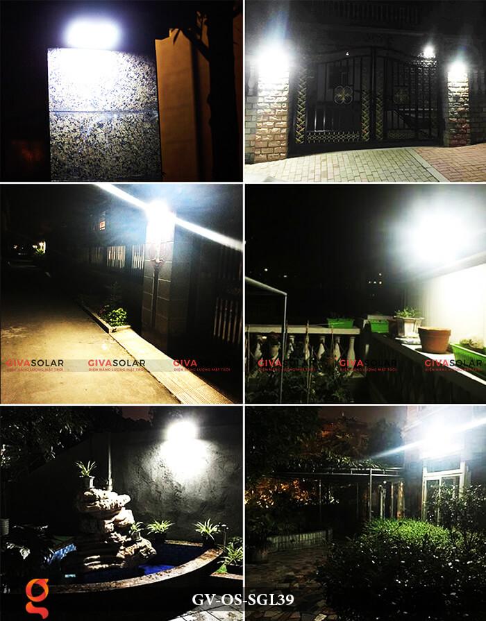 Đèn LED năng lượng mặt trời treo tường GV-OS-SGL39 12