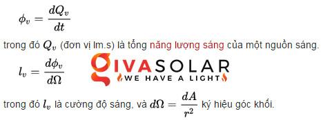 Công thức tính quang thông của đèn led