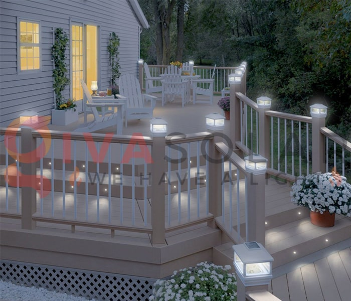 Sử dụng đèn năng lượng mặt trời cho sàn hiên nhà 1