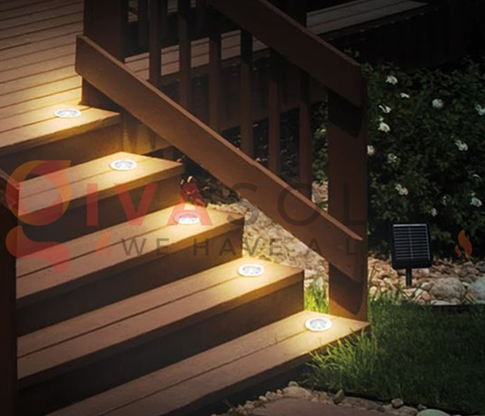 Sử dụng đèn năng lượng mặt trời cho sàn hiên nhà 5