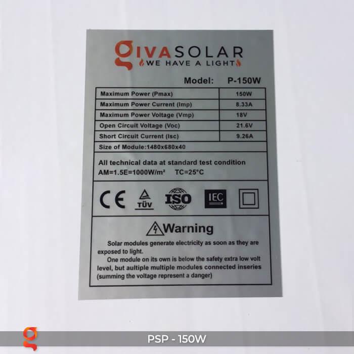 tấm pin mặt trời poly 150w 7