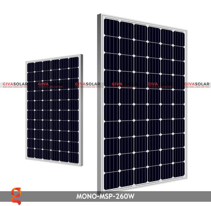 Tấm pin thu năng lượng mặt trời Mono MSP-260W 1