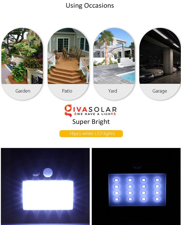đèn treo tường năng lượng mặt trời có cảm biến chuyển động 1