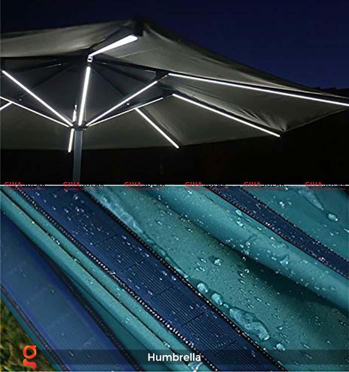 Dù năng lượng mặt trời Humbrella 13